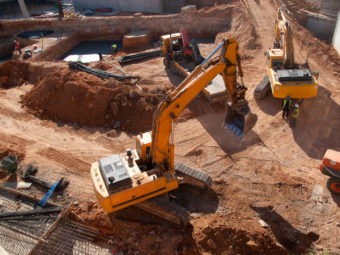 Basement excavation and construction